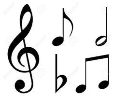 Resultado de imagem para siluetas de notas musicales