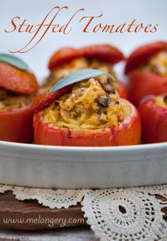 Stuffed Tomatoes - A pleasant lunch recipe or an attractive accompaniment to main dishes | Cooking Melangery