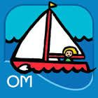 Boats is available as part of the Byron Barton Collection #1 for $4.99 from the App Store. This app has the bright colors, bold outlines and simple shapes that are familiar from Barton's books.  The book will automatically read aloud unless you go into the settings. There are sound effects and animation as the different boats move onto the page.  Tapping on objects or parts of the scene will identify the object and the word will appear, a great way to build on a child's vocabulary. 2/14/15