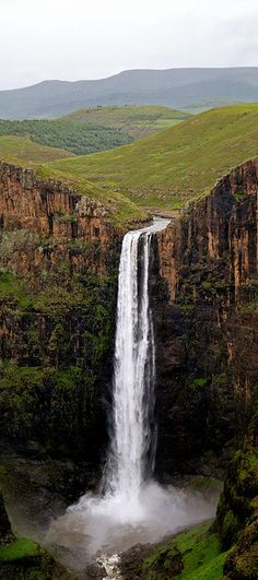 Maletsunyane Falls, Lesotho, Africa Wow! imagine seeing this everytime you woke up and looked out the window
