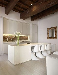 20 Beautiful Kitchens with White Cabinets and Modern Kitchen Islands Home Kitchens, Luxury Kitchen Modern, Luxury Kitchens, Kitchen Island Design, Interior, Italian Kitchen Design, Kitchen Interior, Beautiful Kitchens, Home Decor