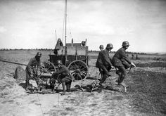 A German communications squad behind the Western front, setting up using a tandem bicycle power generator to power a light radio station in September of 1917. (National Archive/Official German Photograph of WWI)