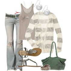 Nothing better than a comfy pair of ripped jeans and a lightweight cardigan