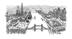 Thames Aerial Sketch