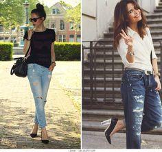 Ripped Jeans - http://lookat-u.blogspot.com/2013/01/inspiracion-jeans-rotos.html
