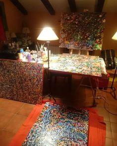 View of the studio (December 2015). #art #studio #txetxu_gonzalez_art #txegonzalezart