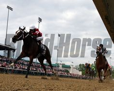 Untapable with Rosie Napravnik up lead at the 1/8th pole over My Miss Sophia with Javier Castellano up and go on to win the 140th Running of...