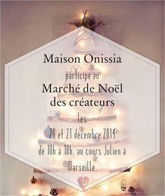 Marché de Noël des créateurs à Marseille au cours Julien, de 10h à 18h. Venez nombreux!
