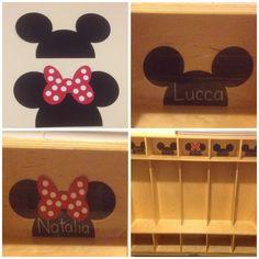 Lot of 36 Preschool Kindergarten Walt Disney Mickey and Minnie Mouse Locker Cubbie Seat Table Chair Tags