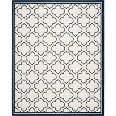 Safavieh Amherst Ivory/Navy 9 ft. x 12 ft. Indoor/Outdoor Area Rug - AMT412M-9 - The Home Depot