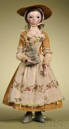 Image detail for -price guide, antiques priceguide, dolls, England, Queen Anne Lady doll ...