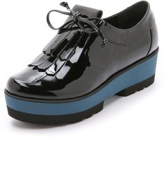 $298, Paloma Barceló Paloma Barcelo Platform Fringe Loafers. Sold by shopbop.com. Click for more info: https://lookastic.com/women/shop_items/331522/redirect