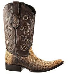 971e9998f17 Cuadra- Mens Genuine Python Leather Boots