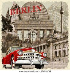 Berlin vintage poster