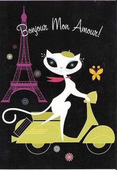 French Kitty #AnimalArt #Art