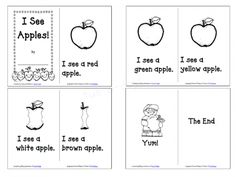 Apple Emergent Reader for Preschoolers