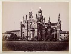 Certosa di Pavia - Parte posteriore della Chiesa - 1880s - Чертоза — Википедия