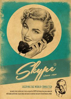 Vintage Social Network by Moustafa Khamis, via Behance