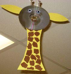 Recycled CD Giraffe