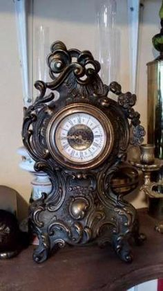 Ceas din bronz ,Rococo stil Suceava - imagine 1 Decor, Dinning, Clock, Rococo, Suceava, Wall, Home Decor, Mantel Clock