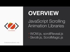 A Guide to JavaScript Scrolling Animation Libraries - YouTube