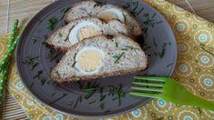 Főtt tojásos egybesült csirkemell fasírt sütőben sütve