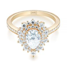 Custom Double Halo Diamond Engagement Ring | Joseph Jewelry | Bellevue | Seattle | Online | Design Your Own Engagement Ring #DazzlingDiamondEngagementRings