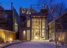 18-Foot Glass Hangar Door Opens Stunning Steel Addition