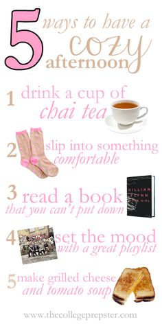 College Prep: Five Ways to Have a Cozy Afternoon