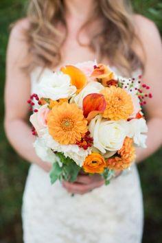 Afbeeldingsresultaat voor bruidsboeket oranje