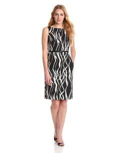 Jones New York Women's Structured Curved Waist Dress #workdresses