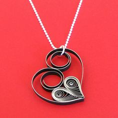 Making this necklace pendant is even more fun than wearing your heart on your sleeve.