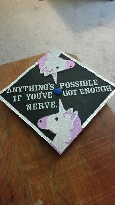 #diy #unicorn #emoji #grad #cap for 2016 with one of my favorite #Harry #Potter quotes. #jkrowling