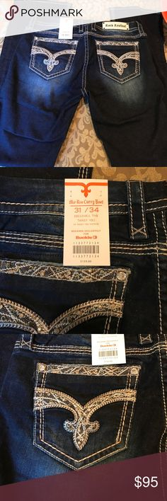 Rock Revival mid-rise curvy boot jeans, NWT New Rock Revival Tansy 31/34 mid rise curvy boot jeans.  New With Tags! Rock Revival Jeans Boot Cut
