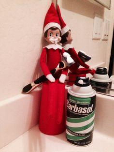 Elf on the shelf shaving cream