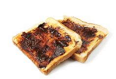 Vegemite Toast ~ drool.....made from the scrapings down the bottom of beer vats (brewers yeast extract). High in B vitamins.
