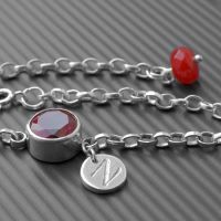 Birthstone for June | Ruby LWSllver Bracelet  #handmade #ruby #birthstone