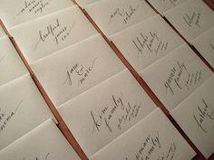 My wedding envelopes! Calligraphy by portlandpalomino, via Flickr