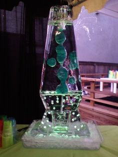 Awesome Green Lava Lamp Ice Sculpture!
