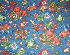 Blue Harvest Placemat Set, 4 piece set, Fall Decor, Fall Placemats, Fabric…
