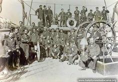 Fotografías Históricas de La Guerra del Pacifico 1879 _ 1884 Oficialidad del Cochrane.