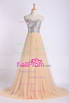 Black Friday Sale Sweetheart A Line Prom Dresses Color Champagne
