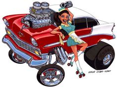"""1956 Chevy BelAir """"Fast Food"""" by Vince Crain"""