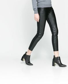 Leggings en simili-cuir -motorbike leggings  #Zara #placemtltrust