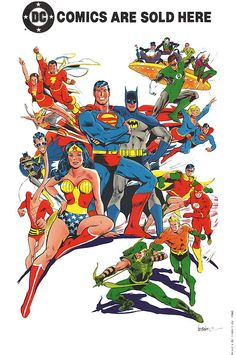 DC Comic Shop poster — this would have convinced me to buy a comic book when I was a kid! Hell, it still does ...