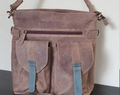 Unique style hand crafted real buffalo leather bags by guntaboutique Vintage Leather Backpack, Brown Leather Backpack, Leather Bags, Leather Shoulder Bag, Shoulder Bags, Backpack Purse, Travel Backpack, Travel Bags, Designer Leather Handbags
