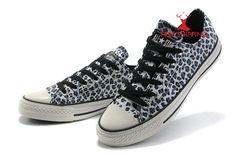 374235a3c69 New Converse All Star Seasonal W chaussures Blue Leopard Print Low Top  Canvas Shoes