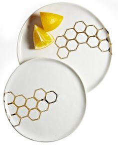 Pretty porcelain honeycomb plates by DbO home   CookingLight.com