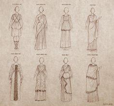 Ancient Greece Clothing, Ancient Greek Dress, Ancient Greece Fashion, Ancient Greek Art, Egyptian Art, Ancient Aliens, Ancient Egypt, Ancient History, Ancient Greek Tattoo