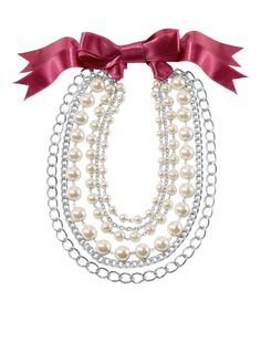 FREE SHIPPING ON ALL PA JEWELRY. This necklace comes with a chain and five ribbons!  PERSONAL ACCENTS® Estelle Necklace